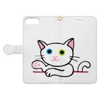 ゆる猫 オッド Book-style smartphone case