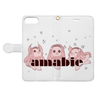 アマビエ様 Book-style smartphone case
