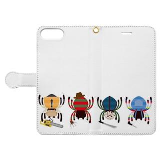 広島フレディのスパイダーキラーズ Book-style smartphone caseを開いた場合(外側)