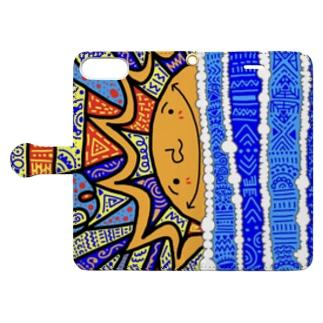 sunrise スマホケース Book-style smartphone case