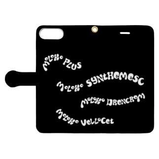コロバ・ミルクバーの壁面 Book-style smartphone case