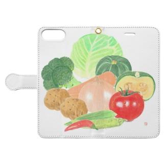 野菜屋さん Book-style smartphone case