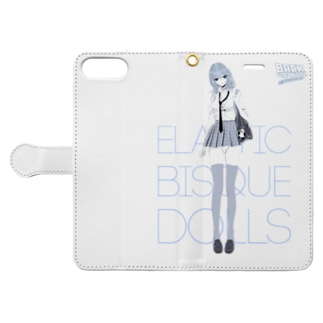 BACK TO SCHOOL 着せ替えビスクドール Book-style smartphone case