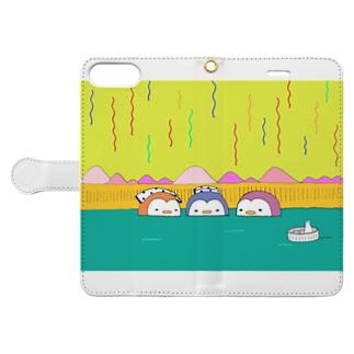 ペンギン温泉会 Book-style smartphone case