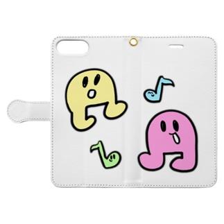 おんぷちゃん Book-style smartphone case