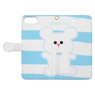 おNEWな白くまくん Book-style smartphone case