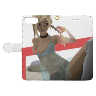 後光 Book-style smartphone case