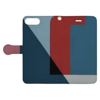 Geometric Letter series 'U' Book-style smartphone case