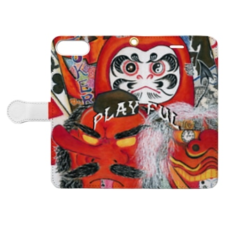 PLAY FUL【全面+小ロゴ】 Book-style smartphone case