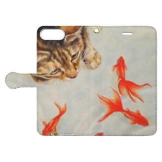 くるみちゃんと金魚 Book-style smartphone case
