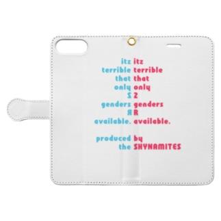 人工/人口ピラミッド(太字ver.) Book-style smartphone case