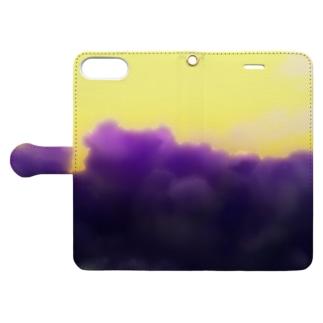 雲 くも モクモク Book-style smartphone case