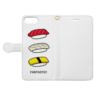 寿司 Book-style smartphone case
