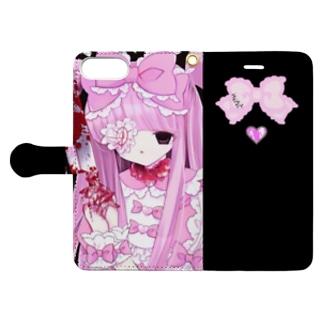 少女の死ゅ魔法迦死ゅ Book-style smartphone case
