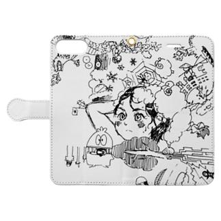 無秩序連想ゲーム Book-style smartphone case