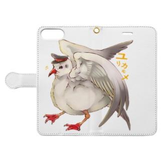 ユリカモメ Book-style smartphone case
