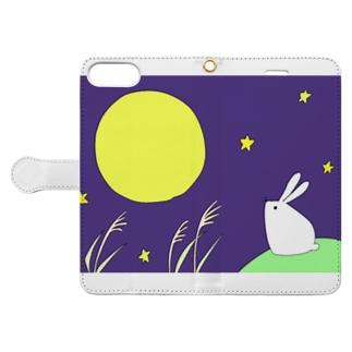 お月見の日 Book-style smartphone case