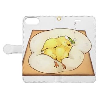 目玉焼きトースト♡ Book-style smartphone case