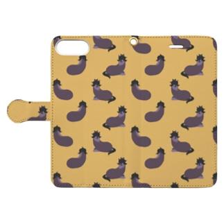 ナス Book-style smartphone case