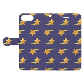 流れ星 Book-style smartphone case