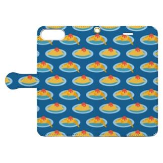 オムレツ Book-style smartphone case