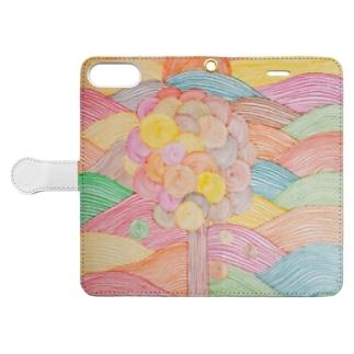 秋空iPhoneケース Book-style smartphone case
