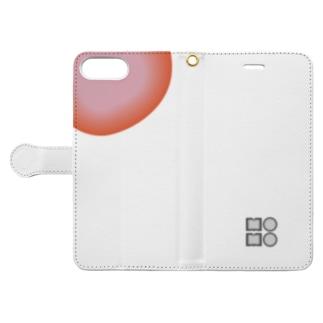 モモ (肉断面) Book-style smartphone case