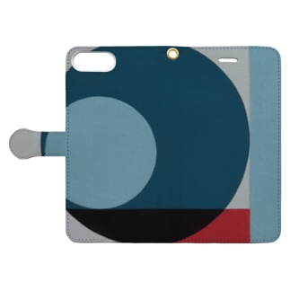 Geometric Letter series - Berry Mint 'Q' Book-style smartphone case