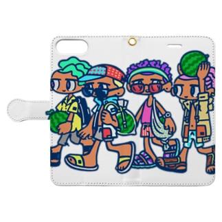 すいか四人衆 Book-style smartphone case