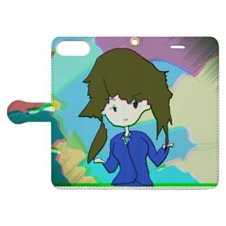 芸術的なガール Book-style smartphone case