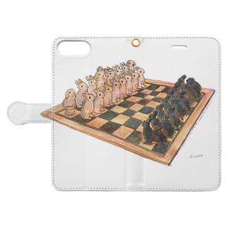 Rabbit chess Book-Style Smartphone Case