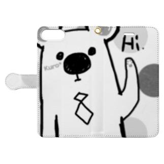 シロクマ Hi. Book-style smartphone case