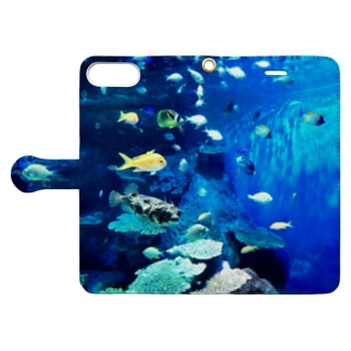 おさかなBlue Book-style smartphone case