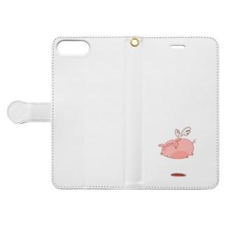 空飛ぶぶうこ。 Book-style smartphone case