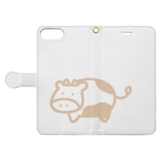 あゆかんのうしさんミルクティー Book-style smartphone caseを開いた場合(外側)