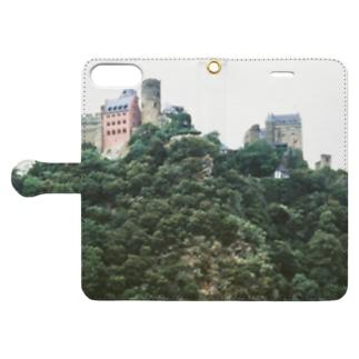ドイツ:シェーンブルク城とライン川 Germany: Burg Schönburg am Rhein Book-style smartphone case