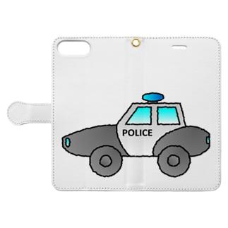 警察車両 Police Car Book-style smartphone case