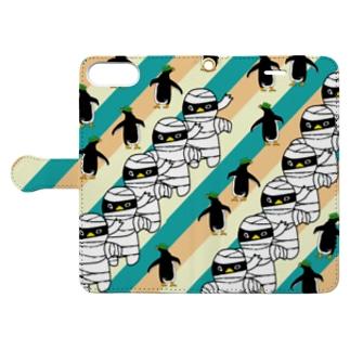 ミイラペンギン手帳型iPhoneケース Book-style smartphone case