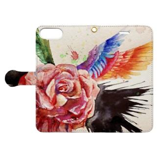 ばら Book-style smartphone case