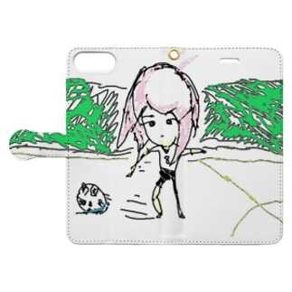 サッカー・ガール Book-style smartphone case