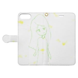 泡沫・ガール Book-style smartphone case