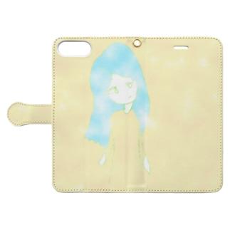 泡沫・ガール02 Book-style smartphone case