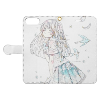 blue spring Book-style smartphone case