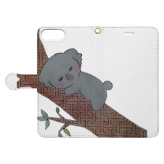 繋がりコアラ Book-style smartphone case