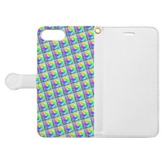 模様216 Book-style smartphone case