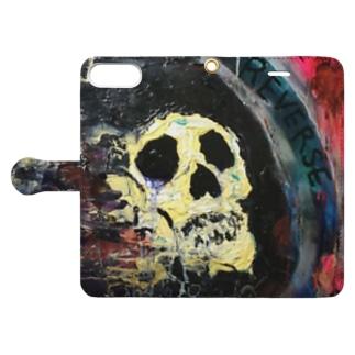 Grim reaper. Book-style smartphone case