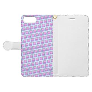 模様217 Book-style smartphone case
