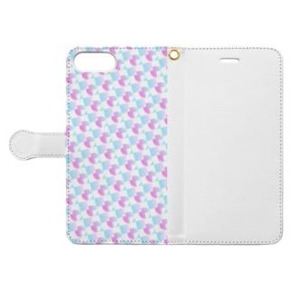 模様218 Book-style smartphone case