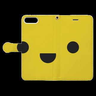 shimojuのきいろいやつ Book style smartphone caseを開いた場合(外側)