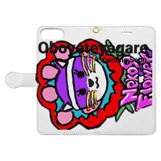 Oboeteyagare by Neko9 Flower Book-style smartphone case